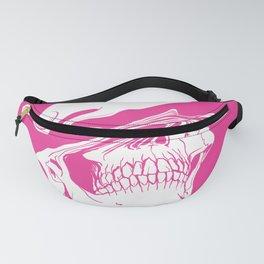 Liquify skull in hot pink Fanny Pack
