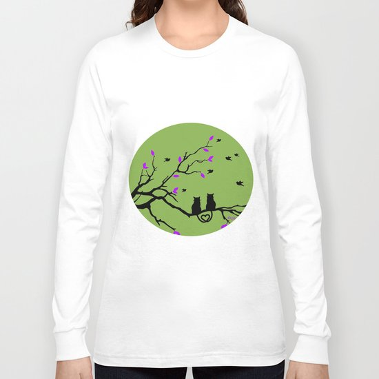 The Cat's in Love Long Sleeve T-shirt