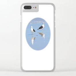 The Blues Seagull Pair Clear iPhone Case