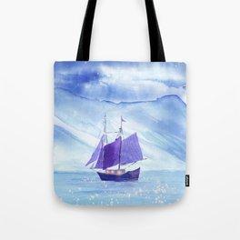 Sailing in Winter Tote Bag