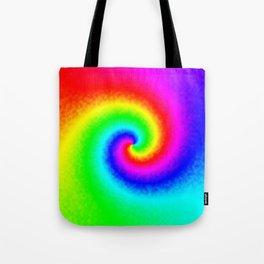 Rainbow Tie Dye Swirl Tote Bag