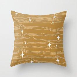 star fabric gold Throw Pillow