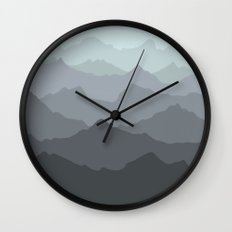 Mountain Mural Wall Clock