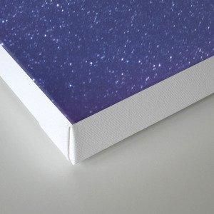 Deep Purple Milky Way Stars Canvas Print