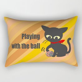 Playing with the ball Rectangular Pillow