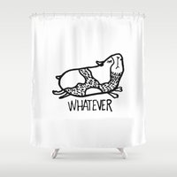whatever Shower Curtains featuring whatever by Pardabon