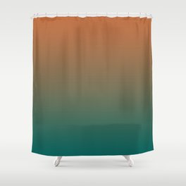 Quetzal Green Meerkat Gradient Pattern Shower Curtain