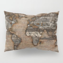 Reclaimed Map 2 Pillow Sham