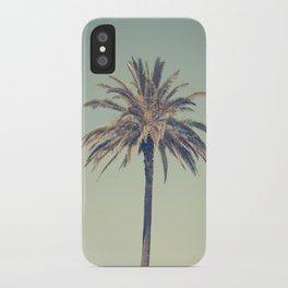 Retro palm tree iPhone Case