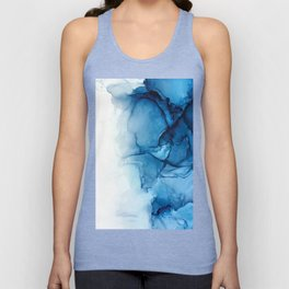 Blue Tides - Alcohol Ink Painting Unisex Tank Top