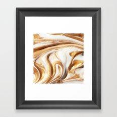 MARBLE CREAM Framed Art Print