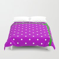 bow Duvet Covers featuring Green bow by I AmErika