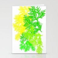 fern Stationery Cards featuring Fern by Sreetama Ray
