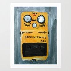 Guitar Pedal Boss DS1 Alternative Acrylic On Canvas Art Print