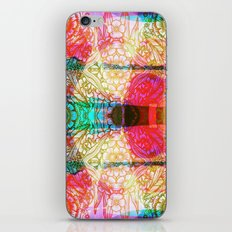 Flower Dreamscape - Painting, Illustration, pink, purple, yellow, blue iPhone & iPod Skin