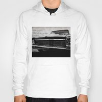 kerouac Hoodies featuring Shiny Car in the Night by Bella Blue Photography
