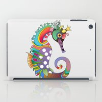 sea horse iPad Cases featuring horse  by mark ashkenazi