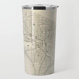 Vintage Map of Washington DC (1866) Travel Mug