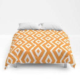 Orange Diamond Pattern Comforters