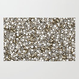 Skulls and spiders Rug