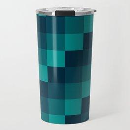 Ocean Waves - Pixel patten in dark blue Travel Mug