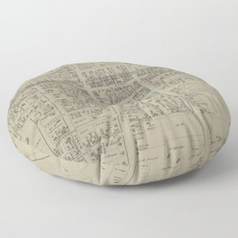 Vintage Map of Newark NY (1874) Floor Pillow