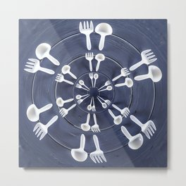 forks and spoons Metal Print