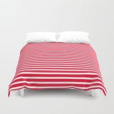 Red Stripes Duvet Cover
