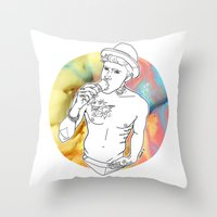 jake Throw Pillows featuring Jake by vllancourt