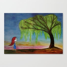 O willow, why do you weep? Canvas Print