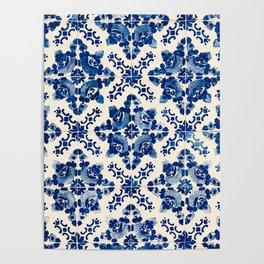 Blue Portugal Tiles #1 Poster