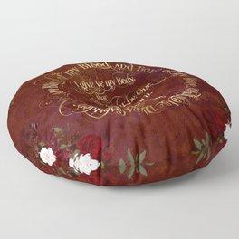 Outlander Wedding Vows Floor Pillow