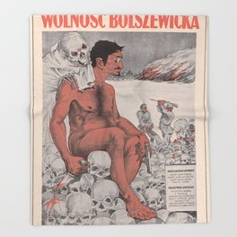 Vintage poster - Wolnosc Bolszewicka Throw Blanket