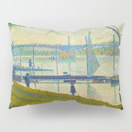 Bridge at Courbevoie Georges Seurat - 1886-1887 Impressionism Modern Pointillism Oil painting Pillow Sham