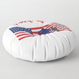Thank You For Your Service Patriotic Veteran Floor Pillow