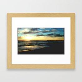 Sunrise on the South Coast of Australia Framed Art Print
