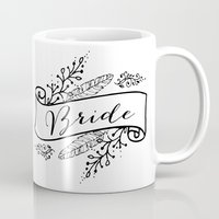 bride Mugs featuring Bride by Alexis Wright