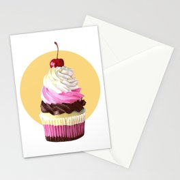 Neopolitan cupcake Stationery Cards