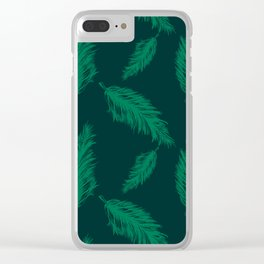 FEATHER PRINT Clear iPhone Case