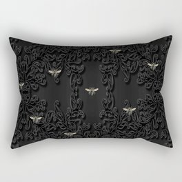 Black Bees and Lace Rectangular Pillow