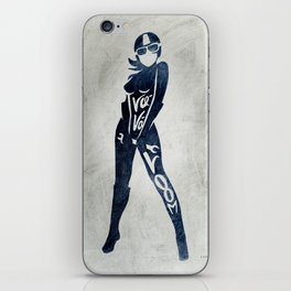 "Va-Va-Voom ""Elsa"" Motorcycle Pin Up Girl iPhone Skin"