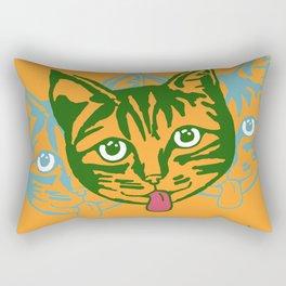 Mollycat Orange Rectangular Pillow