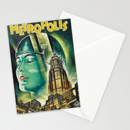 Vintage 1926 'Metropolis' Lobby Card Movie Film Poster by Fritz Lang Stationery Cards