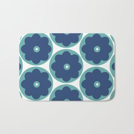 Blue  Marguerite Bath Mat