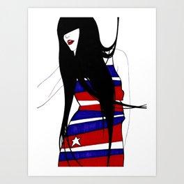 miss America missing in America  Art Print