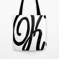 Monogrammed Letter K Tote Bag