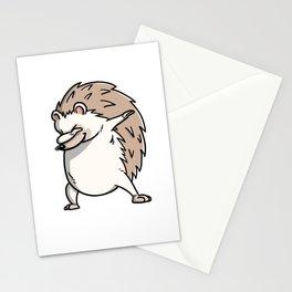 Funny Dabbing Hedgehog Pet Dab Dance Stationery Cards