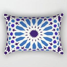 V19 Epic Light Blue Traditional Moroccan Pattern Design . Rectangular Pillow
