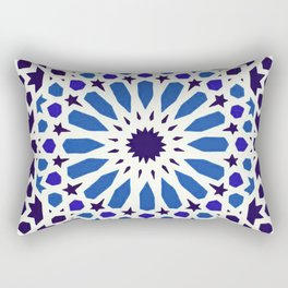 V19 Epic Light Blue Traditional Moroccan Pattern Design . Rectangular Pillow
