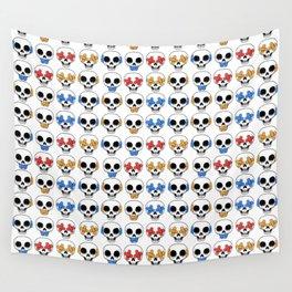 Cute Skulls No Evil II Pattern Wall Tapestry
